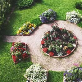 Оформление цветами и цветники